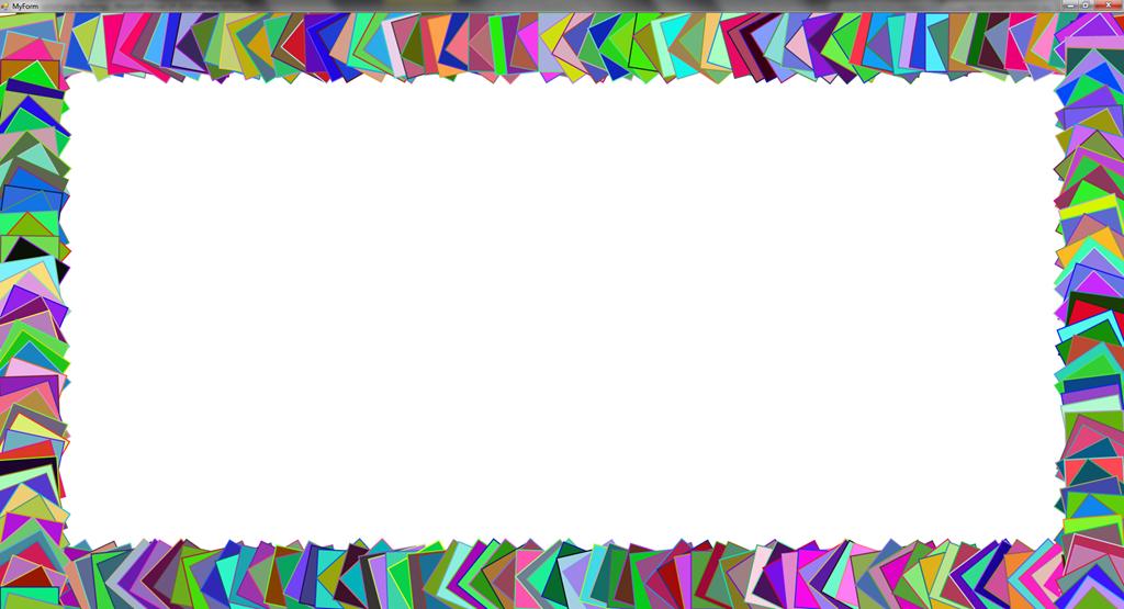 דוגמת קוד ציור מסגרת של אובייקטים גראפיים Wisekid